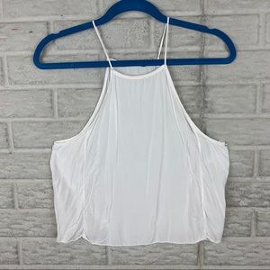 Brandy Melville Crop Top Tank One Size OS White